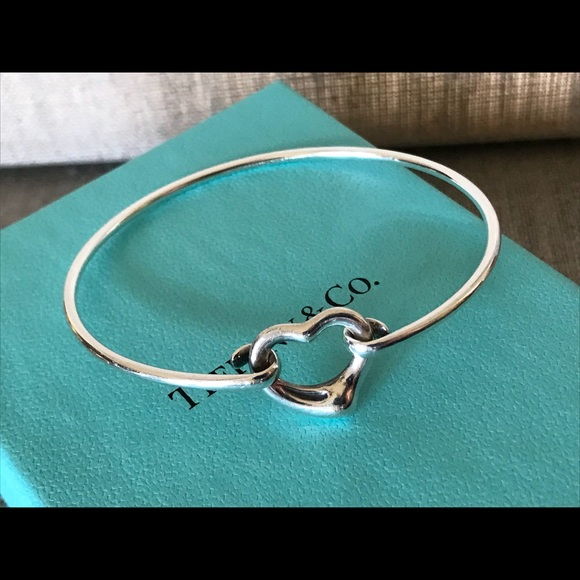 ba5df040c Tiffany & Co. Jewelry | Tiffany Co Elsa Peretti Open Heart Bangle ...